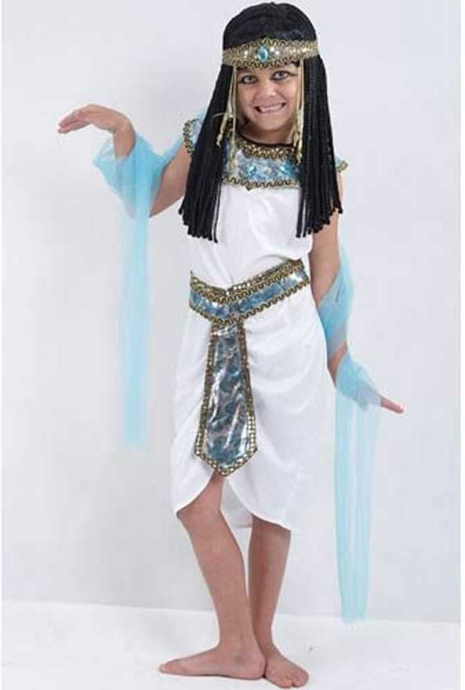 Children - Disfraz de reina egipcia para niña, talla 4-6 años ...