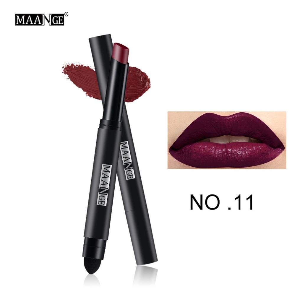 AMA(TM) Waterproof Matte Lipstick Crayon Long Lasting Lipstick Pen Makeup Lip Gloss Lip Liner (K)
