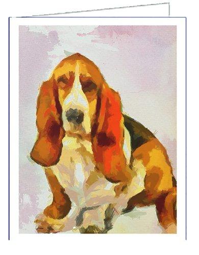 Basset Hound - Lautrec - Dog Blank Note Cards - Set of 6 with Envelopesby Dog.