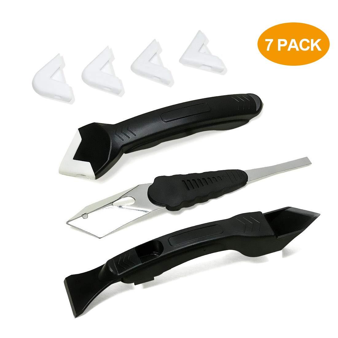 Rascador de silicona 3 en 1, kit de herramienta de rascador de silicona con 4 almohadillas reemplazables sellador herramienta para moldear el bañ o o la cocina Jane Choi