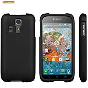 Black Rubberized Snap On Protector Case for Kyocera Hydro Vibe C6725