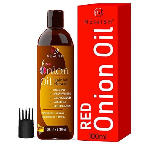 Newish® Onion hair oil for Hair Growth & Hair fall Control (100ml)