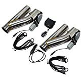 #10: BLACKHORSE-RACING 3 Inch Electric Exhaust Downpipe E-Cut Out Valve 2 Pcs with One Controller Remote Kit