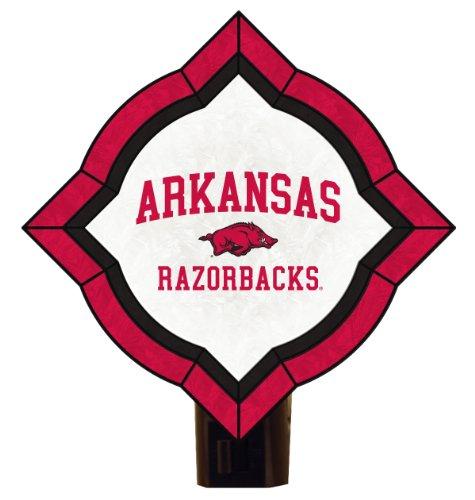 NCAA Arkansas Razorbacks Vintage Art Glass Nightlight