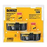 Tools & Hardware : DEWALT DC9096-2 18-Volt XRP 2.4 Amp Hour NiCad Pod-Style Battery (2-Pack)
