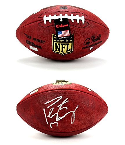 Peyton Manning Autographed/Signed Wilson Authentic Duke NFL Football - Steiner & Fanatics