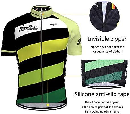 Ropa Culote Conjunto Traje Culotte Deportivo con 3D Almohadilla De Gel para Bicicleta MTB Ciclista Bici Hengxin Maillot Ciclismo Corto De Verano para Hombre
