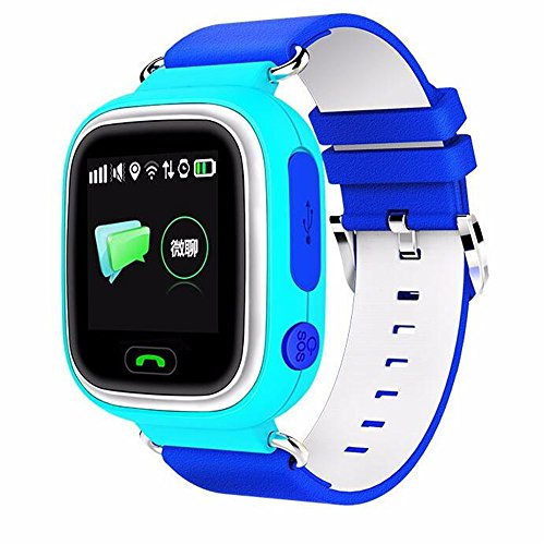 Q90 kids Smartwatch GPS/GSM/GPRS Triple Positioning GPRS Tracker Watch for Kids Children Smart Watch with SOS Support GSM phone Android IOS Anti Lost (BLUE)
