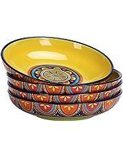 Bico Ceramic 35oz Dinner Bowls, Set of 4, for Pasta, Salad, Cereal, Soup & Microwave & Dishwasher Safe