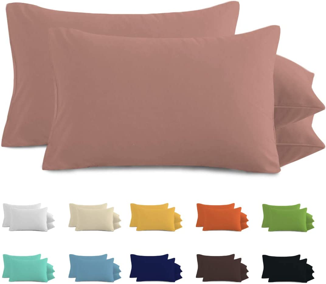 Stain and Wrinkle Resistant Machine Washable Set of 2 24 Available,White Standard Size Pillow Cases Incredibly Soft and Comfortable DBNMKK Microfiber Pillowcases Pack