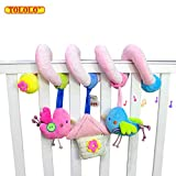 TOLOLO Infant Baby Wrap Around Crib Rail or Stroller Toy, Stroller Toy, Bed Hanging Toys, Car Seat Toy