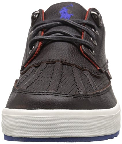 Polo Ralph Lauren Mens Pull Up Grain Ramiro Fashion Sneaker Marrone Scuro