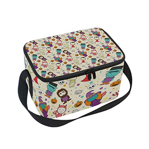 Halloween Cosplay Lunch Box Insulated Lunch Bag Large Cooler Tote Bag Picnic School Women Men Kids -