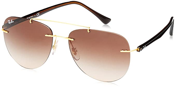RAYBAN Men s 0RB8059 157 13 57 Sunglasses, Gold Browngradient ... 947f3d57e8f7