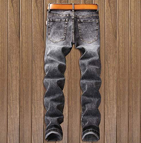 Ropa 34 del Hombres Pantalones Color Algodón Delgados Dril Denim Los Pantalones Pantalones Elásticos De Rectos Size Pretina 11 Vaqueros Jeans Vaqueros Fit De Sin Regular Los De Midi qxCpwnEz
