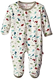 Magnificent Baby Baby-Boys Dino Expedition Footie, Dino Explorer, 9 Months