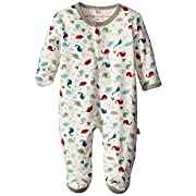 Magnificent Baby Baby-Boys Dino Expedition Footie, Dino Explorer, 3 Months