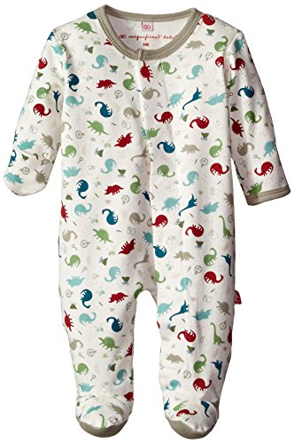 Magnificent Baby Baby-Boys Dino Expedition Footie, Dino Explorer, 3 (Kids Adventure Time Onesie)
