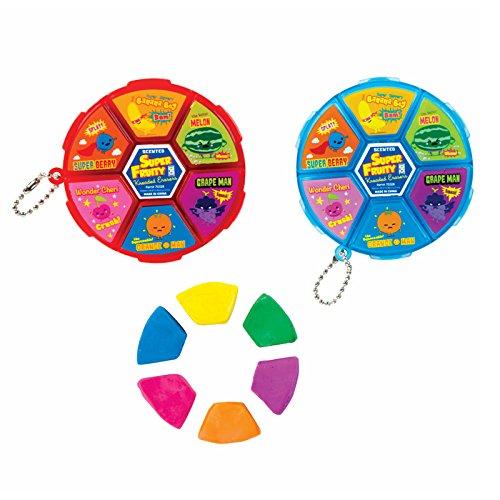 Super Fruity Scented Kneaded Eraser Wheel Toy Eraser Set of 2 -