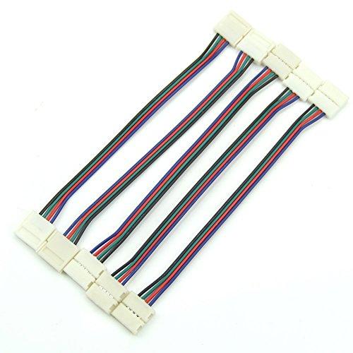 Belong 1Pcs 4-Pin Connecting Corner 4pin RGB Connector for 12mm SMD 5050 RGB LED Strip Light L15