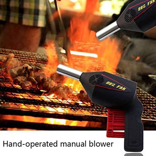 Dynamovolition Souffleur D'air En Plein Air Barbecue Outil Presse À Main Manuel Souffleur Portable Barbecue Souffleur Pour Camping En Plein Air Manuel Souffleur D'air