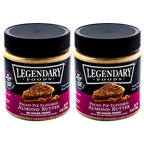 Legendary Foods Pecan Pie Keto Almond Butter, All Natural Ingredients, Rich In Protein. Healthy Spread - No Added Sugar or Artificial Flavors, Gluten Free (12oz, Pack of 2)