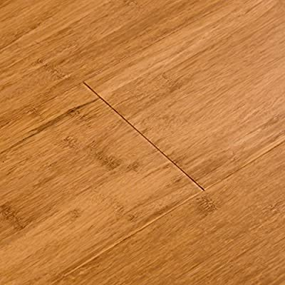 Cali Bamboo - Solid Wide T&G Bamboo Flooring, Mocha Brown, Carbonized - Sample