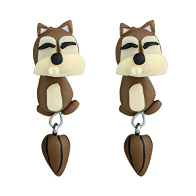 6352c668a TREESTAR Stud Earrings for Girls Children Soft Clay Earring Drops Pendant  Gift for Daughter Girlfriend Squirrel 4.5cm/1.8