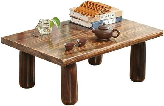 Couchtisch Schlafzimmer Erker Fenster Tisch Japanischen Kleinen Tisch Belastbarkeit 230 Kg Color : Brown, Size : 60 * 40 * 30cm