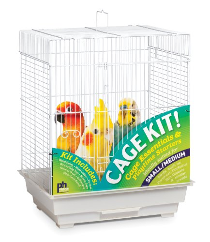 - Prevue Hendryx 91320 Square Roof Bird Cage Kit, White