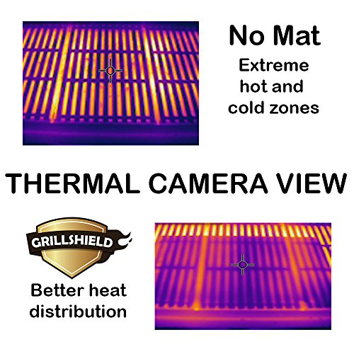 GrillShield Best Large Copper Grill and Bake Mats Set of 2 - Best Gift 2018 - 17 X 23 inches Non Stick Mats for BBQ Grilling & Baking, Reusable and Easy to Clean