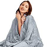 Hiseeme Minky Weighted Blanket for Adults | 18lbs, 60''x80'', Queen Size | Plush Soft Fleece Material Blanket | Enjoy Natural Deep Sleep | Grey