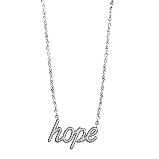 hope pendant silver inch plated necklace chain dp of amazon circle and com