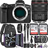 Canon EOS R Mirrorless Digital Camera with RF 24-105mm Lens + Canon Mount Adapter EF-EOS R & Advanced Photo and Travel Bundle - Includes: Altura Photo Backpack, 2pcs SanDisk 64gb SD Card and Monopod