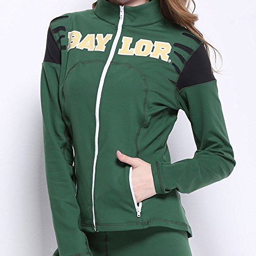 Twin Vision Activewear Baylor Bears Yoga Track Jacket (Small)