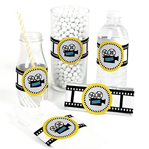 Movie - Hollywood DIY Party Wrapper Favors - Set of 15 (Hollywood Theme Party Favors)