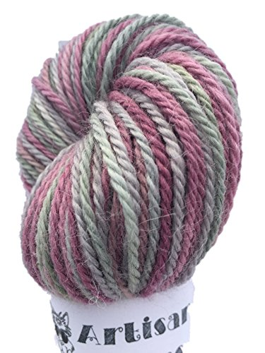 Artisan Yarns Hand Dyed Baby Alpaca Yarn, Hand Painted: Juniper, Dk Weight, 80 Grams, 200 Yards, 100% Baby Alpaca