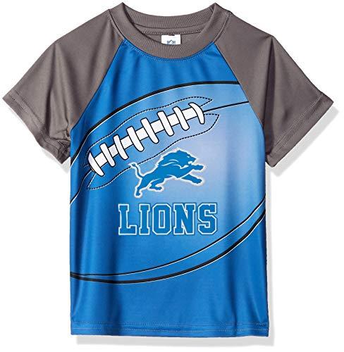 NFL Detroit Lions Unisex Short-Sleeve Tee, Blue, 3T