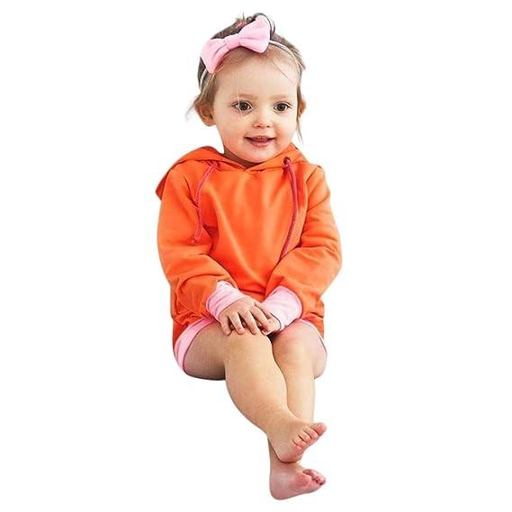 Mitlfuny Ropa de Bebé Primavera Otoño Camisas para Niñas Niños Deporte Camisetas de Manga Larga Oreja