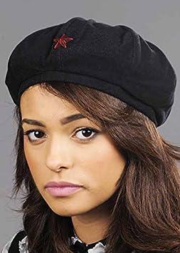 Sombrero negro boina militar del ejército: Amazon.es: Juguetes y juegos