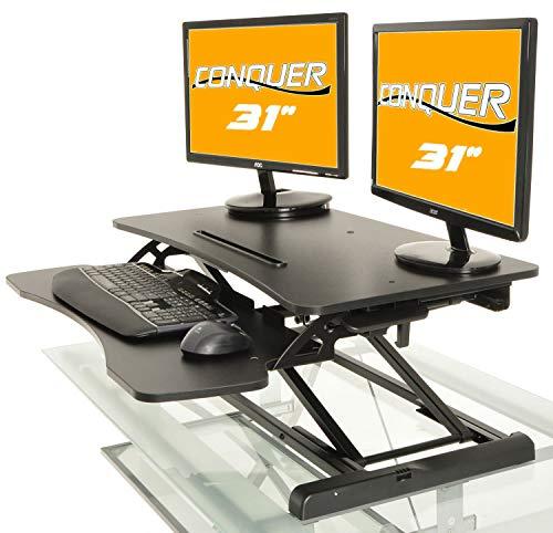 (Desktop Tabletop Standing Desk Adjustable Height Sit to Stand Ergonomic Workstation)