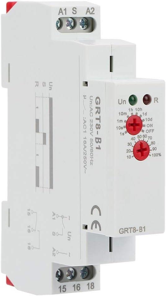 Relé de retardo - GRT8-B1 Mini apagado Tiempo de retardo Relay Timer Relay Tipo de riel DIN AC 220V
