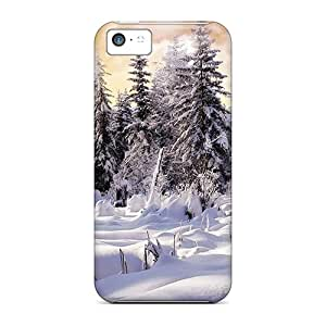 OTBOX Scratch-free Phone Case For Iphone 5c- Retail Packaging - Winter Wonderl