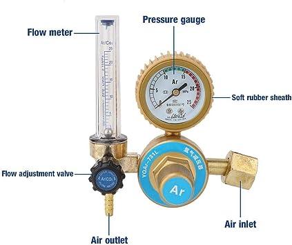 Chemical Industry Brass Argon Regulator Pressure Reducer Guages Repair