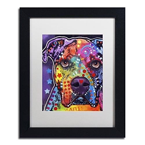 American Bulldog 121609 by Dean Russo, White Matte, Black Frame 11x14-Inch