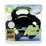 Camco Black Stack Easily Organize and Store Plates, Perfect for Traveling, Outdoor Eating, Camping,and