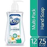 Dial Antibacterial Liquid Hand Soap, White Tea & Vitamin E, 7.5 Ounce (Pack of 12)