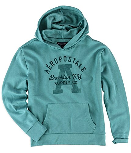(Aeropostale Womens Brooklyn Supply Co. Hoodie Sweatshirt, Green, Medium )