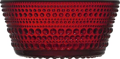 Iittala Kastehelmi Cranberry Dessert Bowl 23cm (Glass Cranberry Bowl)
