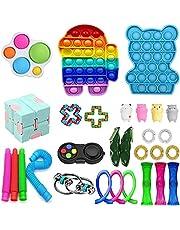 28Pcs Fidget Toys Cheap Fidget Toys Set Sensory Fidget Toys for Kids Adults, Miniature Novelty Toys, Stress Relief and Anti-Anxiety Tools?Simple Dimple Fidget Toys